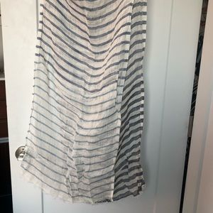 J. McLaughlin Striped Linen Scarf